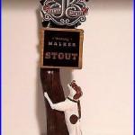 VERY RARE Braman Brewery Running Walker, Stout, Beer Tap Handle TX Brew