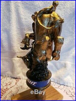 VERY RARE NEW 1998 Bud Light Beer Bucking Bull Rider tap handle Rodeo Cowboy