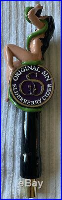 VERY RARE SEXY Woman ORIGINAL SIN HARD Elderberry Cider Beer Tap Handle