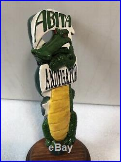 VINTAGE 1998 ABITA ANDY GATOR beer tap handle. LOUISIANNA