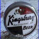 VINTAGE CHROME KINGSBURY ARISTOCRAT OF BEER TAP HANDLE KNOB BALL