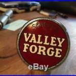 VINTAGE SCHEIDTS VALLEY FORGE BEER TAP HANDLE KNOB BALL BAKELITE COMP PORCELAIN