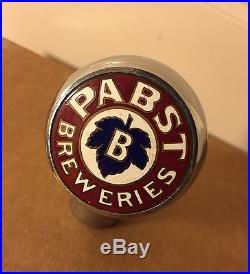 VTG 1930/40'S PABST BLUE RIBBON BEER TAP TAPPER HANDLE CHROME BALL KNOB