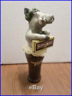 Very Rare Tuscan Sundown Brown Ale Wild Boar Figural 9 Beer Keg Tap Handle