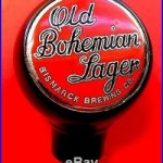 Vintage 1930s Old Bohemian Lager Beer Ball Knob Tap Handle Bismarck Brewing RARE
