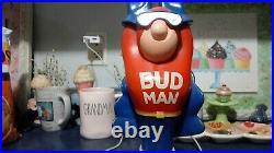 Vintage Budweiser Budman Beer Bud Man 10 Inch Tap Handle Knob