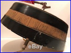 Vintage Budweiser On Tap Beer Barrel Head With Tap Handles