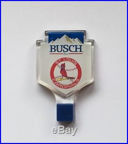 Vintage Busch Beer St. Louis Cardinals Baseball Logo Tap Handle