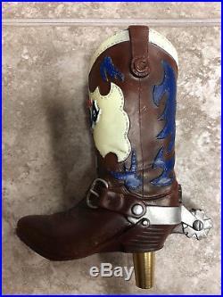 Vintage Coors Original Cowboy Boot Beer Tap Handle Western Rodeo