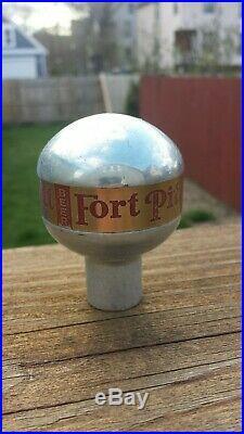 Vintage Fort Pitt Newman Aluminum Beer Ball Knob Tap Handle Pittsburgh, PA