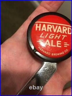 Vintage HARVARD LIGHT ALE Beer Ball Knob Tap Handle Lowell, MA Massachusetts