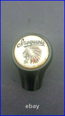 Vintage Iroquois Beer Ball Knob Tap Handle Late 1930's Buffalo, New York