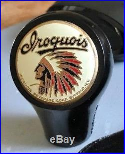 Vintage Iroquois Indian Head Beer Ball Tap Knob / Handle Buffalo Ny Can Sign