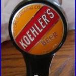 Vintage Koehler Beer Kooler Keg Ball Tap Knob Handle Erie Brewing Co Erie Pa