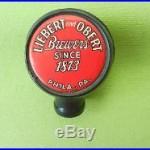Vintage Liebert and Obert beer tap handle/knob- Brewers since 1873 Phila, PA