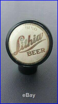 Vintage Lithia Beer Ball Knob Tap Handle 1940's West Bend, Wisconsin