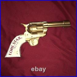 Vintage Lone Star Beer Revolver Six Shooter Pistol Tap Handle Gun