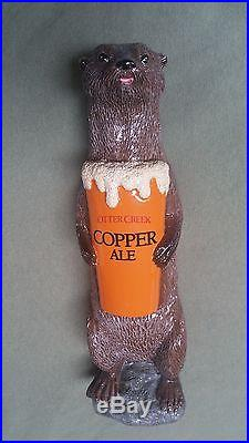 Vintage Otter Creek Copper Ale Beer Tap Handle RARE