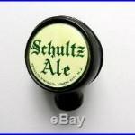 Vintage SCHULTZ ALE beer tap handle knob, UNION CITY, N. J -old 2.5