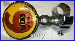 Vintage SICKS RAINIER beer tap handle steering wheel knob