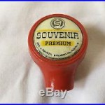 Vintage SOUVENIR PREMIUM BEER Bar Tap Handle AKRON Oh Geo Renner Brewing Co