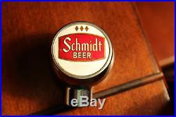 Vintage Schmidt Beer Tap Handle Knob