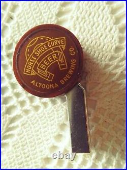 Vtg HORSESHOE CURVE BEER ALTOONA PA Beer Tap Knob Handle