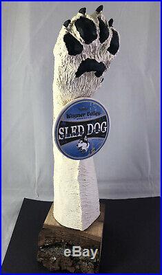 Wagner Valley Sled Dog Doppelbock Beer Tap Handle Rare Figural Dog Tap Handle